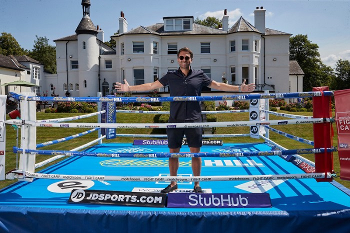 Eddie Hearn in backyard